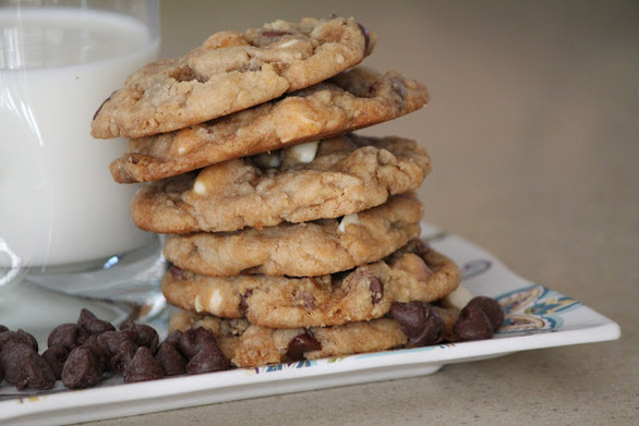 Peanut Butter Chocolate Chip, White Chocolate, Salted Caramel Swirl Cookies