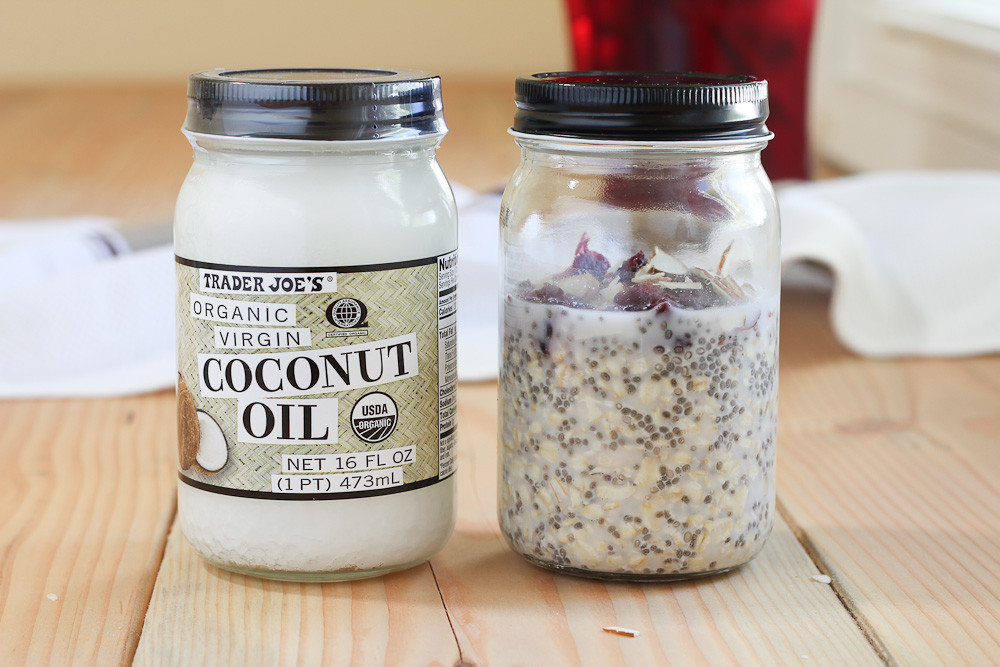 I used a recycled coconut oil jar!