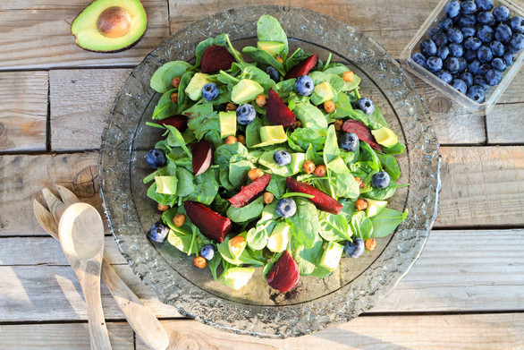 Blueberry Beet Detox Salad