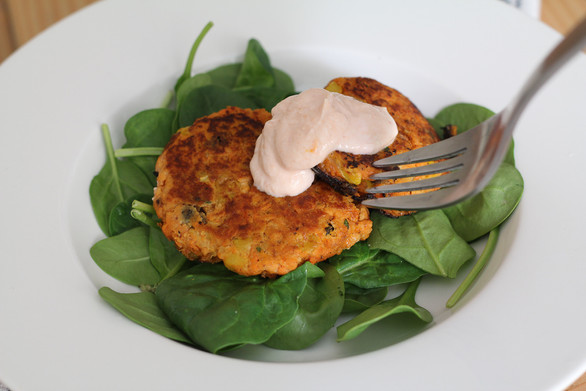 Sweet Potato Black Bean Cakes
