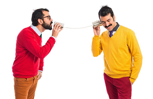 twin-brothers-talking-through-a-tin-phon