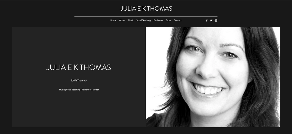 Julia E K Thomas - Homepage