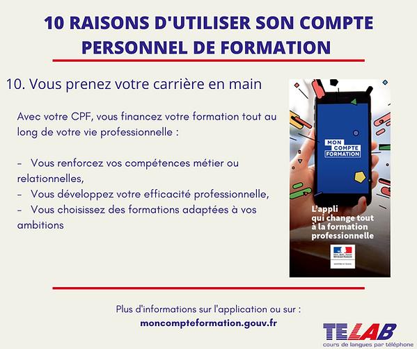 10 raison CPF  10ème raison ( Prendre ca