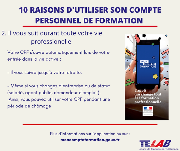 10 raison CPF  2ème raison ( durant tout