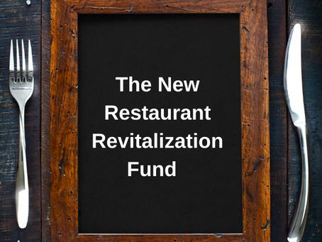 Restaurant Revitalization Fund Registration and Application Underway