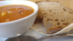 Soup with our famous 50/50 loaf