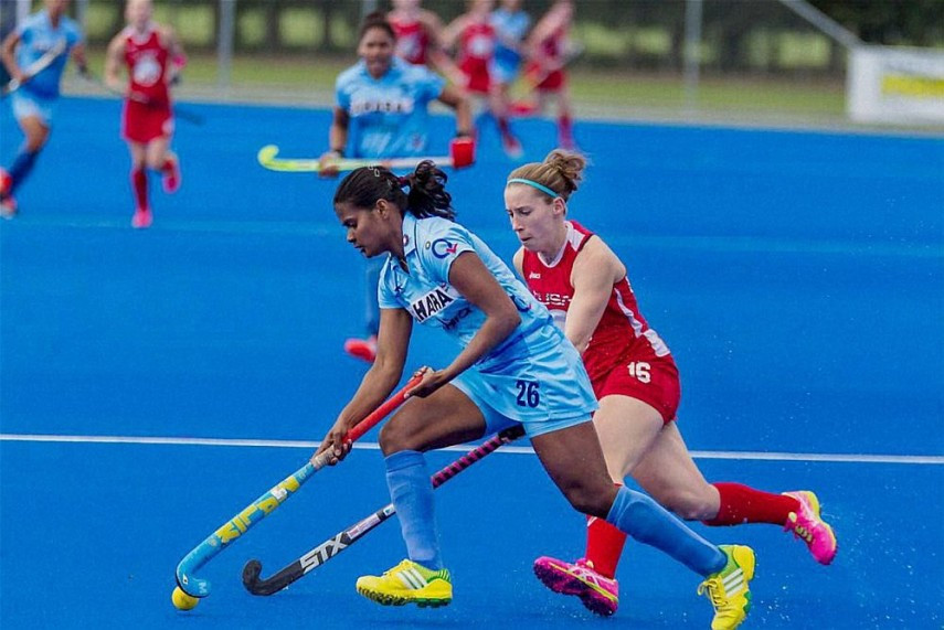 Image result for ind vs usa hockey women