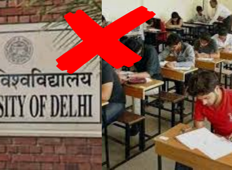 DU Cancels EXAMS For FIRST AND SECOND Year Students