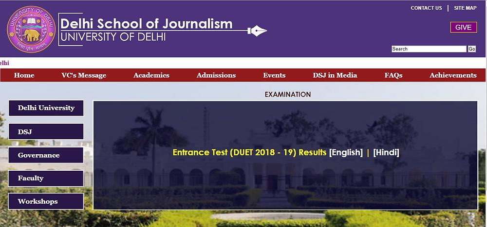 delhi School of journalism