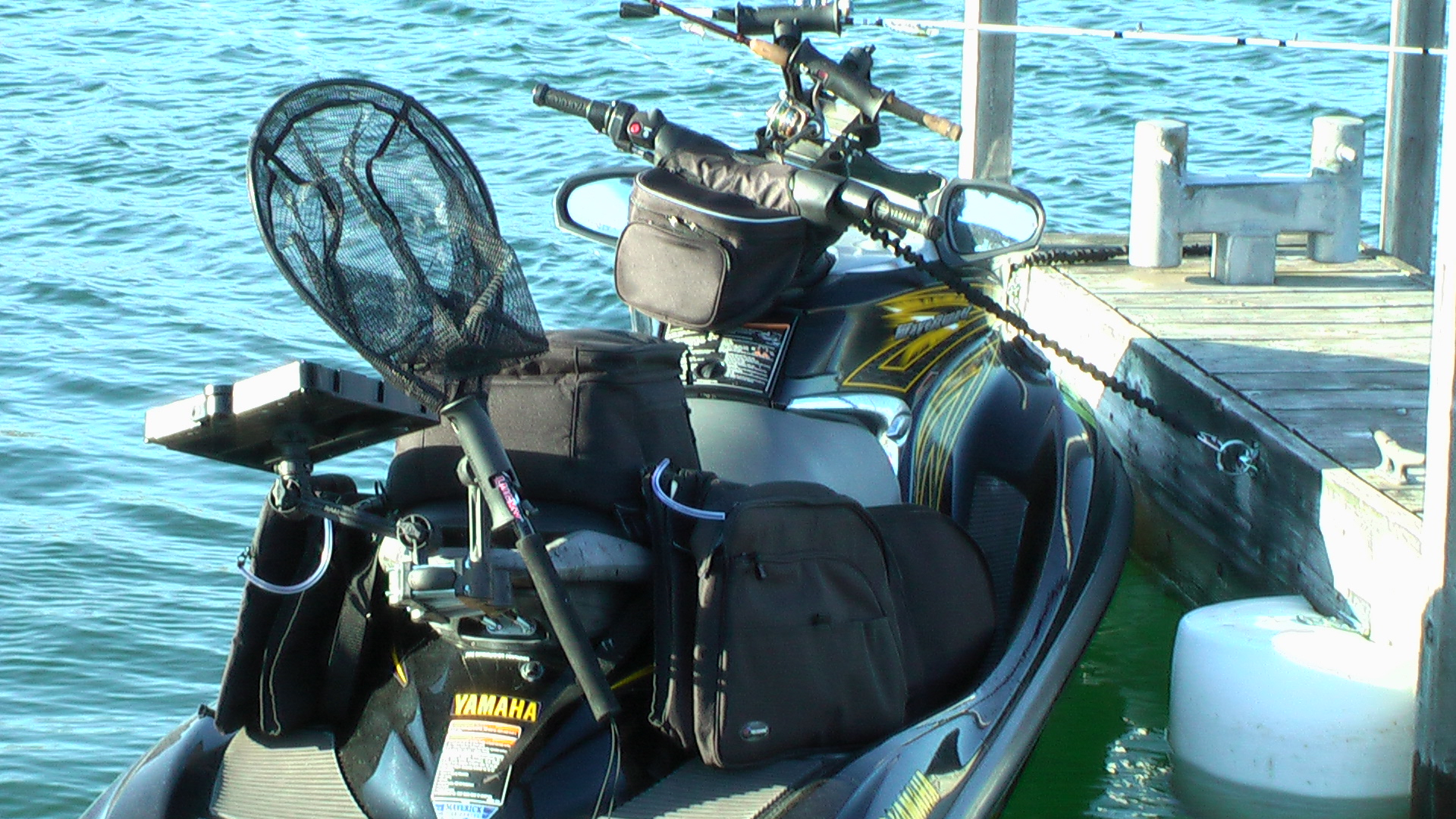 PWC fishing with a Yamaha FXHO
