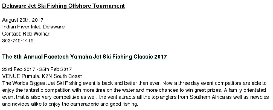 pwc fishing tournament