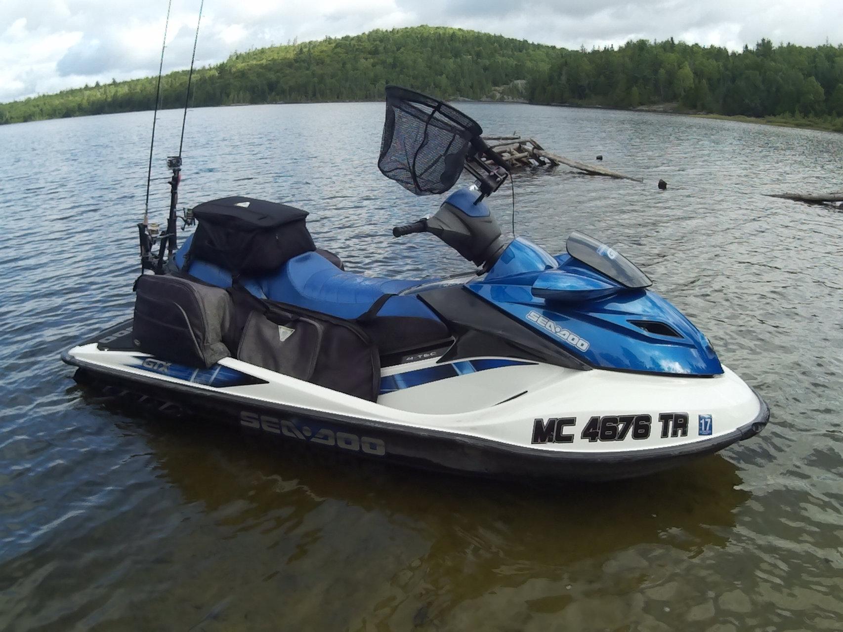 Jet ski fishing equipment maverick fish hunter michigan for Jet ski fishing setup