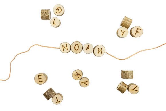 Namenskette mit Brandgravur (1-4 Buchstaben)