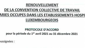 Protocole d'accord de la CCT FHL
