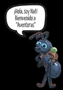Hola, soy Nat Bienvenido a _Aventuras_.p