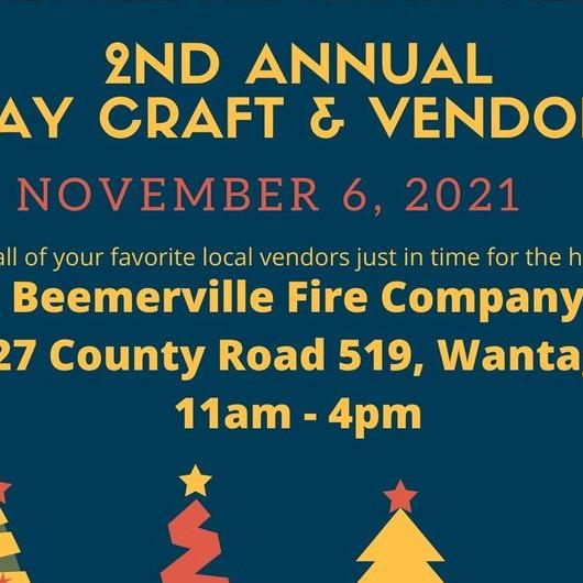 Beemerville Fire Company Holiday Craft & Vendor Fair