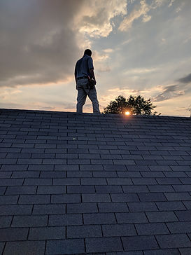 Inspecting the roof