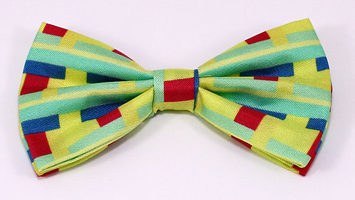 Pre Tie Silk Bow Ties Series Block Yellow