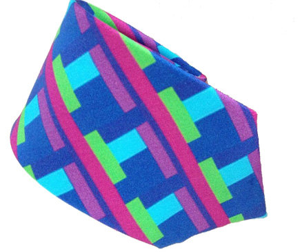 Pure silk neck tie - large pattern