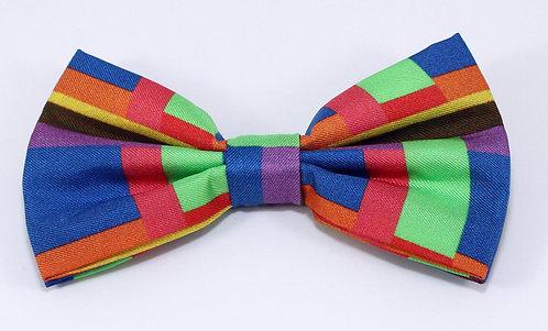 Pre Tie Silk Bow Ties Series Block Bue