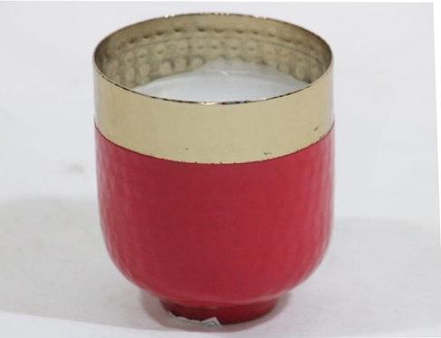 Crimson metal candle stand