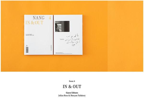 NANG MAGAZINE Co-edited by Julian Ross and Maryam Tafakory