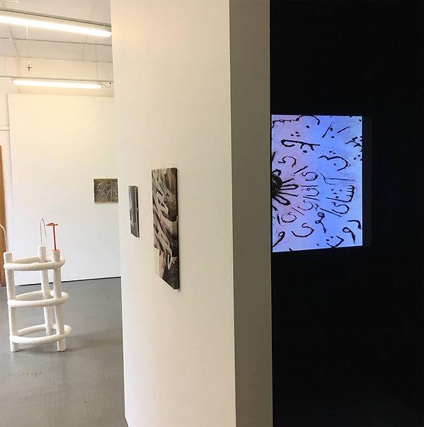 Filmmaker Maryam Tafakory Poem and Stone Installation