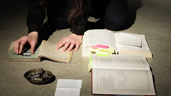 Maryam Tafakory's film/performance at Ruskin School of Art, Oxford University