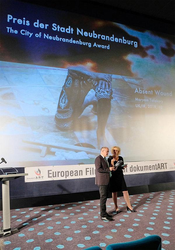 ABSENT WOUND by Maryam Tafakory awarded at dokumentART
