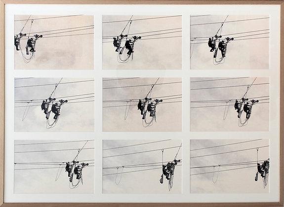 Sequência de movimento em nove imagens