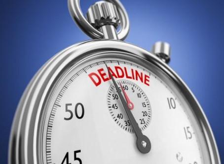 Never miss a deadline