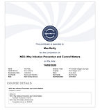 NHS infection and prevention Certificate