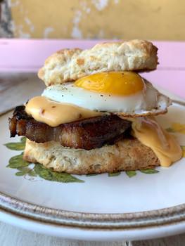 Pork Belly Breakfast Sandwich
