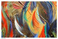 Macro d'une oeuvre de l'artiste peintre Liz Azria