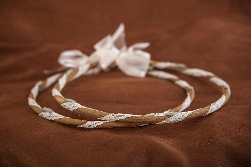 Χειροποίητα ξύλινα στέφανα  γάμου Σ-493