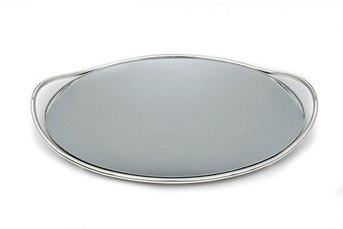 Δίσκος επάργυρος οβάλ με καθρέφτη ΔΕ-124