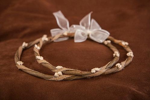 Χειροποίητα ξύλινα στέφανα  γάμου Σ-494