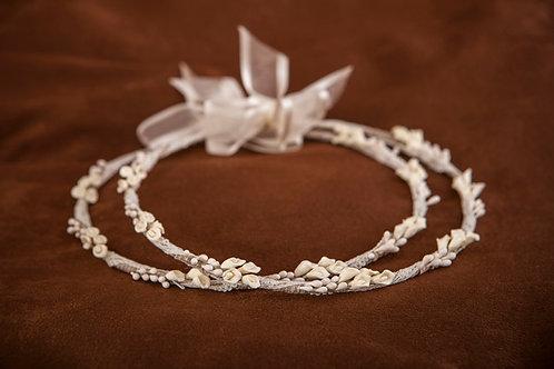 Χειροποίητα πορσελάνινα στέφανα γάμου Σ-481