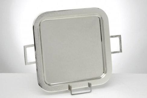 Επάργυρος δίσκος τετράγωνος σφυρήλατος ΔΕ-3