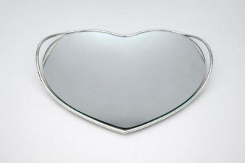 Επάργυρος δίσκος με  καθρέφτη ΔΕ-5
