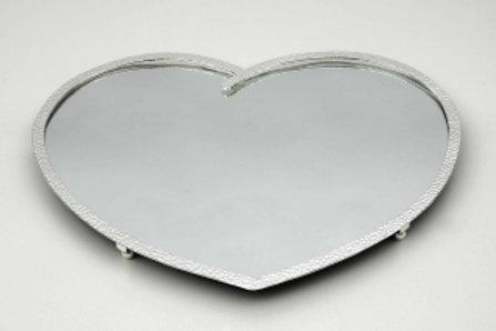 Επάργυρος δίσκος σφυρήλατος με καθρέφτη ΔΕ-7