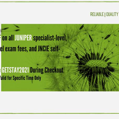 Promotional Offer on Juniper Certification!