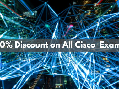 Discount on All Cisco Exams!