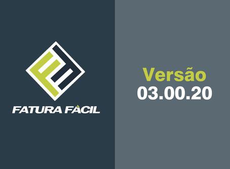 Fatura Fácil | Atualização • Versão 03.00.20