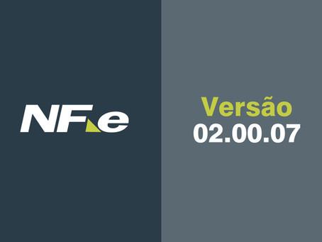 NF-e | Atualização • Versão 02.00.07