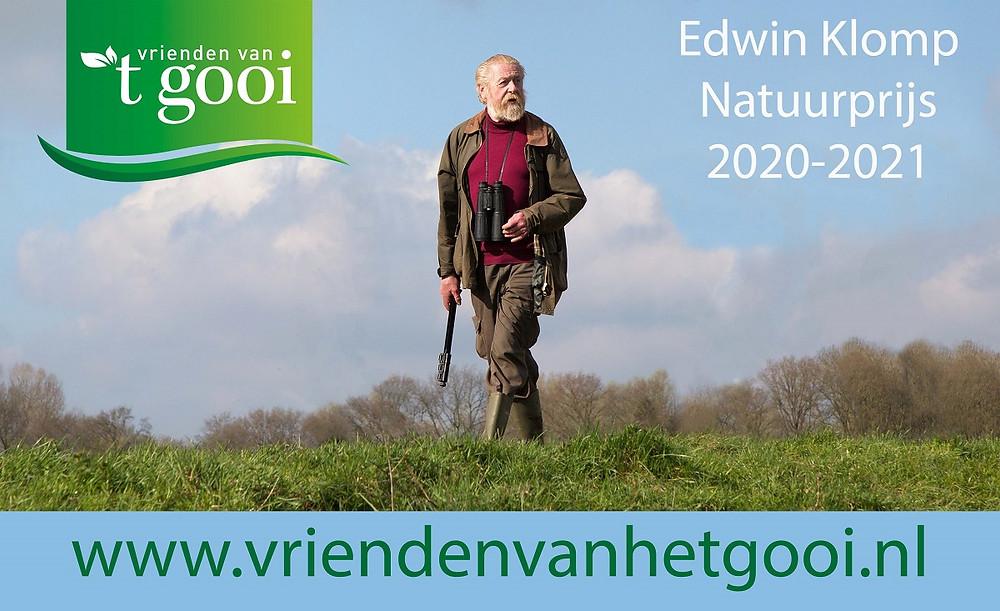 Edwin Klomp, naamgever van de natuurprijs van Vrienden van het Gooi.