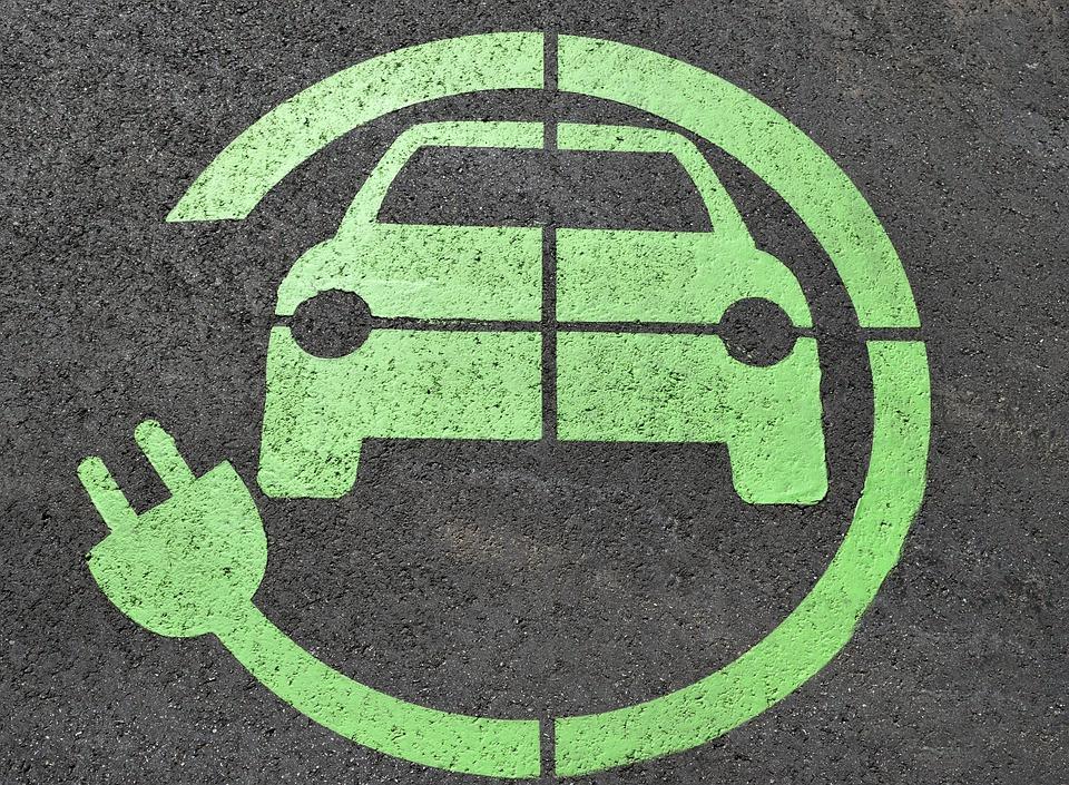 Logo oplaadpunt elektrische auto.