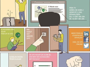 De E-waste Race, inzamelen van elektronica door regionale school