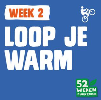 Uitdaging van week 2: loop je warm