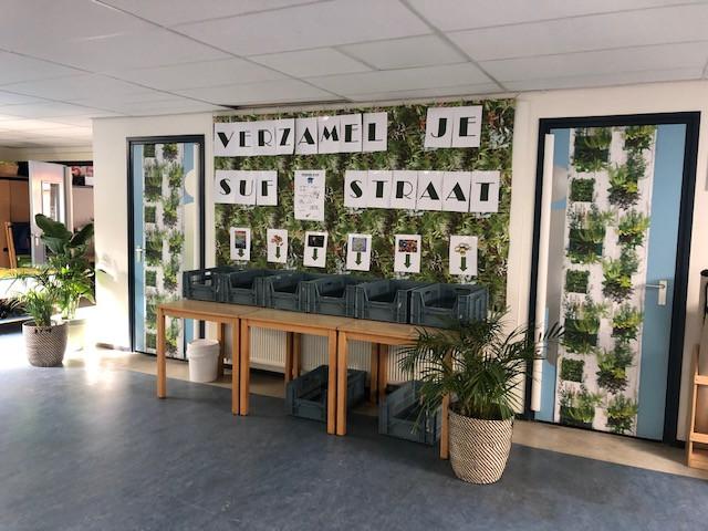De inzamelstraat op de Rebothschool in Naarden.